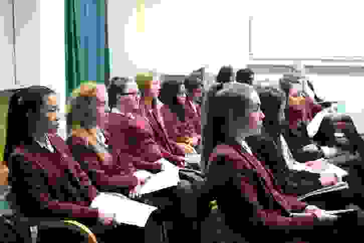NHS Careers - Girls watching a talk