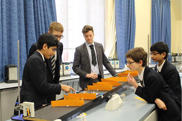 Physics Olympics - A Sixth Former times the marble in Delayed Timings