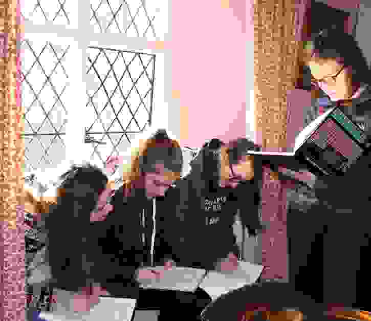 Creative Writing Retreat - Girls write in Wordsworth house