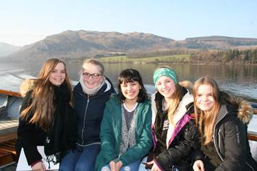 Creative Writing Retreat - Year 11 on the boat on Ullswater