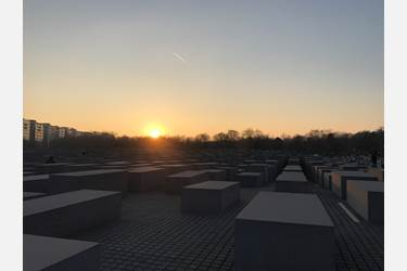 Berlin - Sun on the horizon