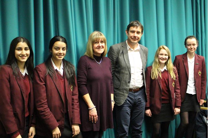 Jeff Forshaw - With Girls' Division pupils