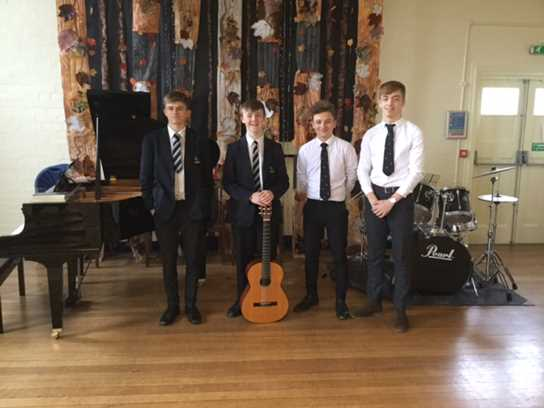 The four senior pupils played outstandingly and were warmly received by the junior school audience