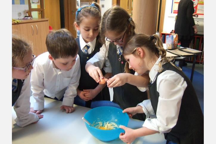 Y2 Baking Club - Cracking Eggs