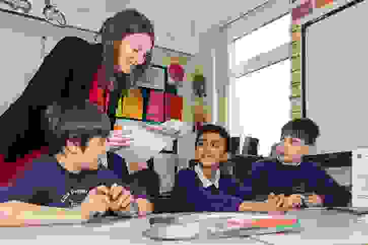 Local Maths Tuition - Miss Doran with Lostock Primary pupils