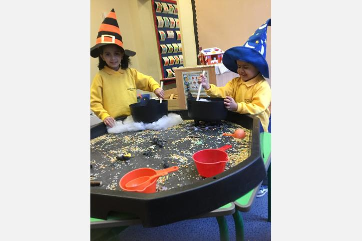 Hansel and Gretel - Children making potions
