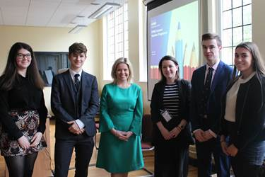 KPMG Summer Internships 2017 - OGs Katie Clinton and Jenny Webster with current 6th Form