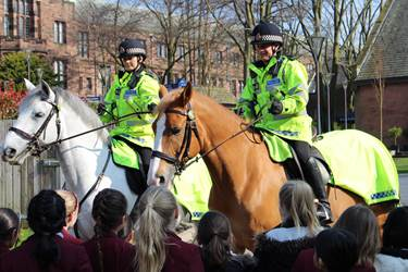 Police Horses at Hesketh House