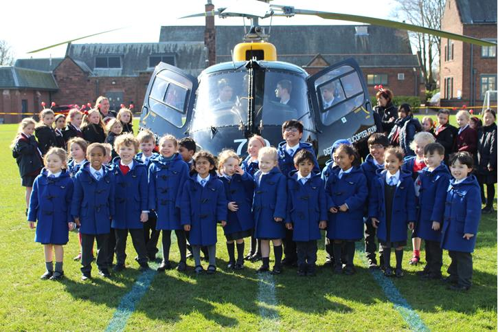 OB's Flying Visit Infants with Helicopter
