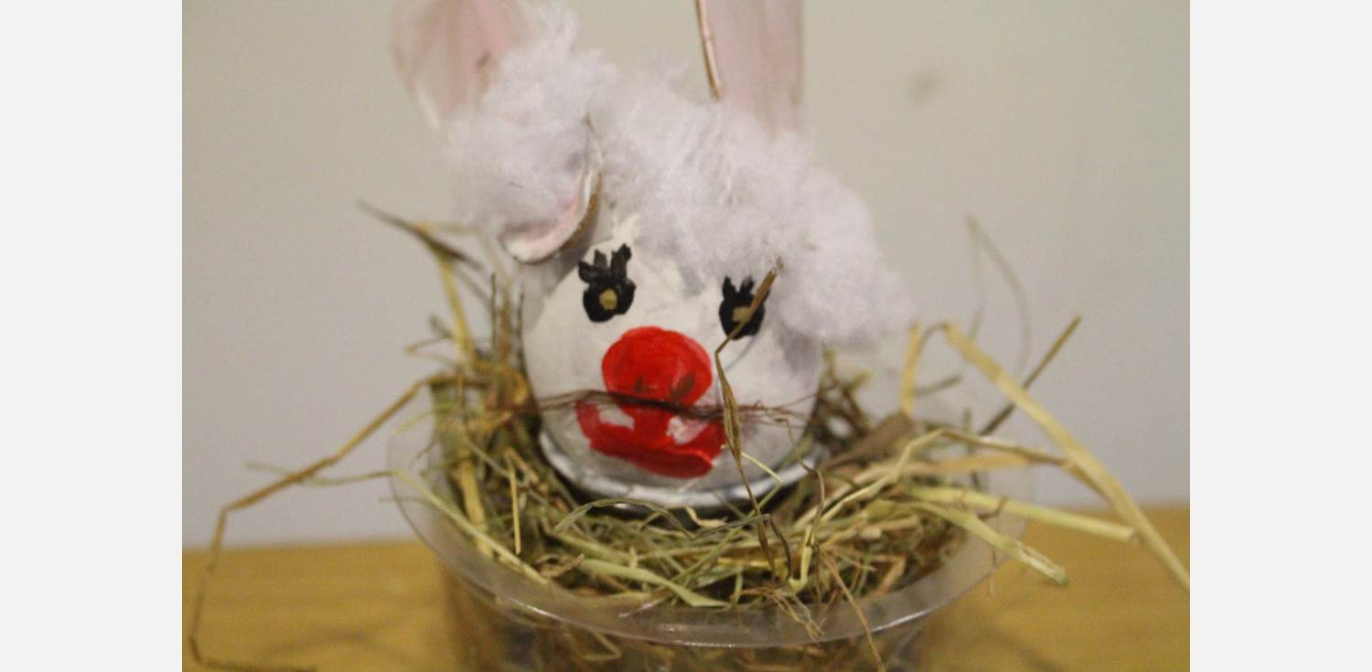 Easter Egg Decorating Bunny