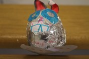 Easter Egg Decorating Metallic Bunny
