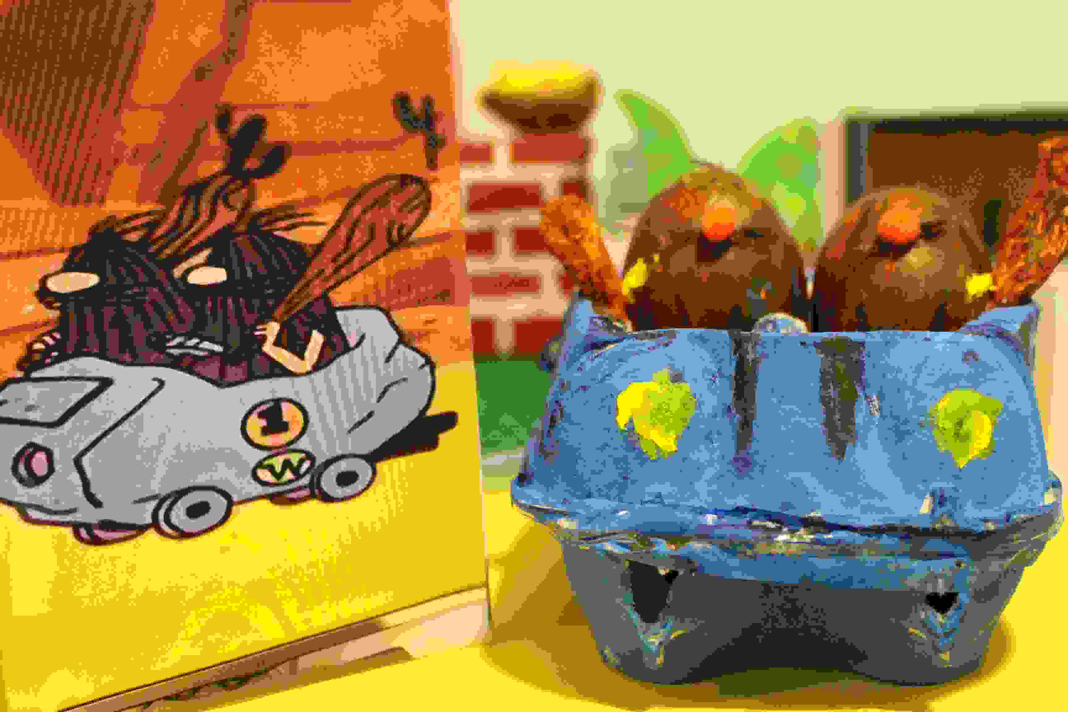 Easter Egg Decorating Wacky Races Slag Brothers