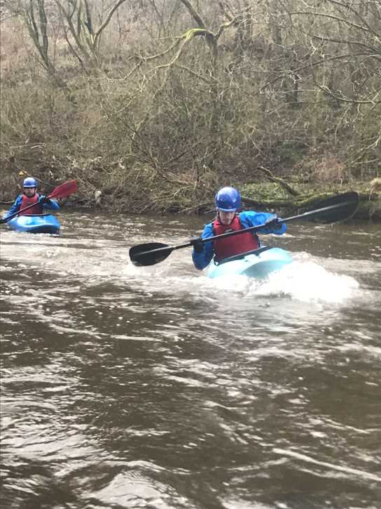 Boys have benefitted from kayaks recently being added to the school fleet