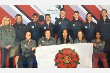 Shreya Kamath with Lancashire Badminton Team ed.jpg