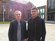 The two recent leavers will undertake their 1000 mile bike ride from 13-27 June