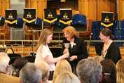 May Serenade Caroline receiving the Carter Cup