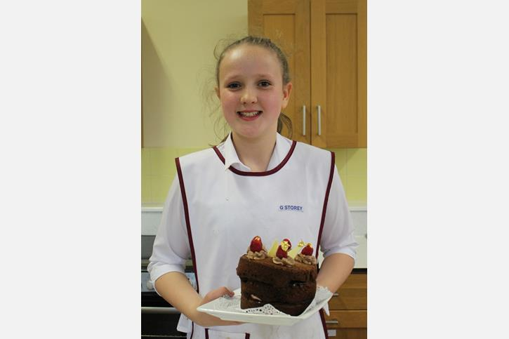 Bake Off 2017 Genevieve with her Really Raspberry Chocolate Cake