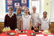 Bake Off 2017 finalists with Mrs James