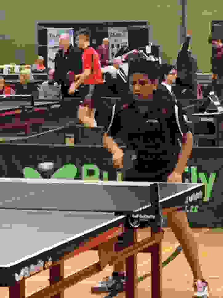 National Table Tennis Player Anupam in action