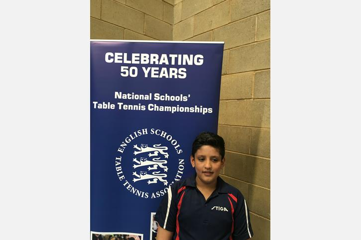 National Table Tennis Player Anupam at Champs