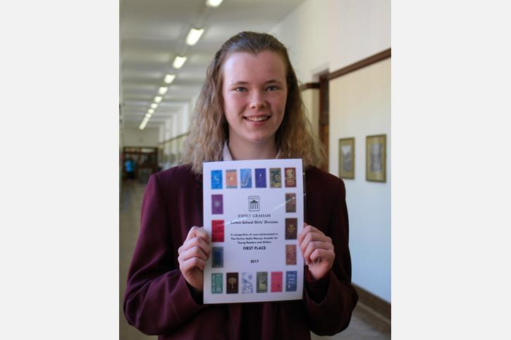 Portico Sadie Massey Award for Young Writers winner Emily