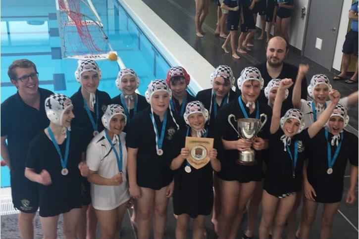 Water Polo Triple Triple - U13s pose with trophies