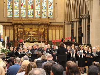 The Friends of Bolton School Choir sang 'The Armed Man: A Mass for Peace' at Bolton Parish Church in May 2017, supported by additional performances from the Park Road and Hesketh House Choirs