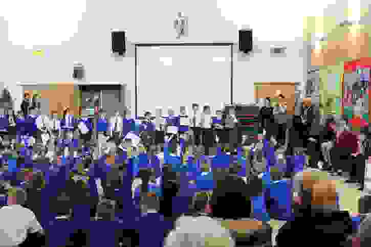 SCITT Partnership - a final assembly allowed pupils to show their work
