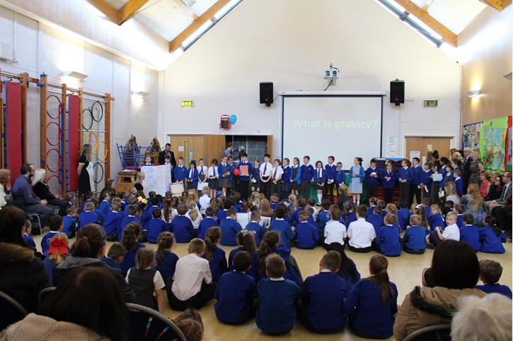 SCITT Partnership - Pupils in the final assembly