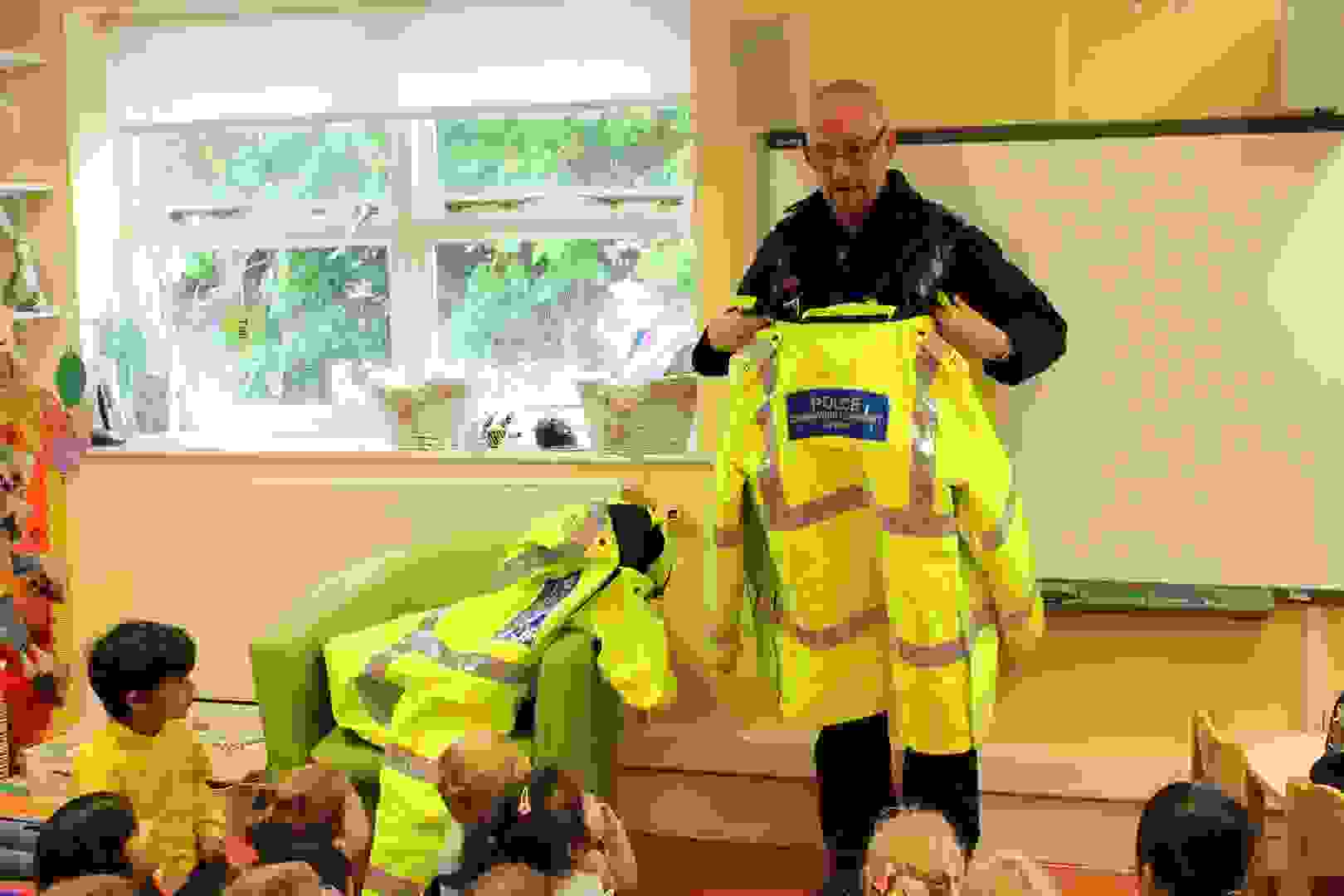 Emergency Services Week - Police Officer showing his uniform