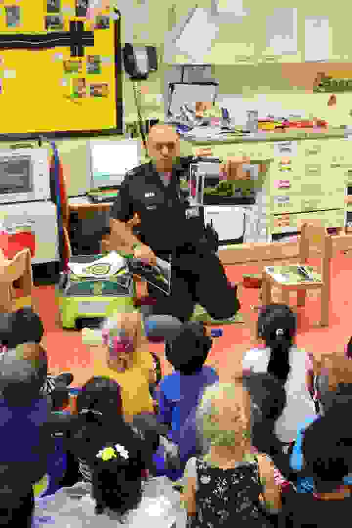Emergency Services Week - Butterfly Class with Ambulance Paramedic