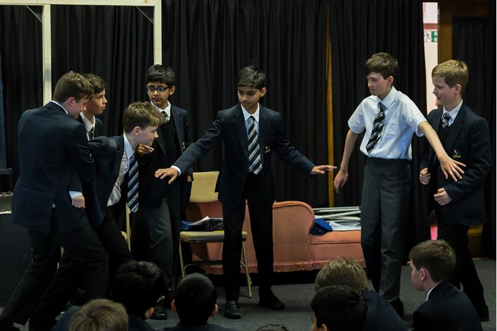 Theatre Company in Residence - boys acting
