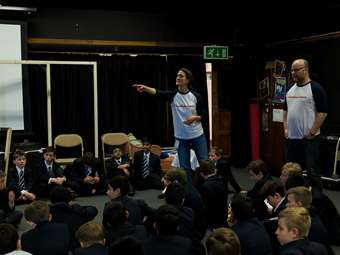 Theatre Company in Residence - RoughHouse Theatre helping pupils to come up with ideas
