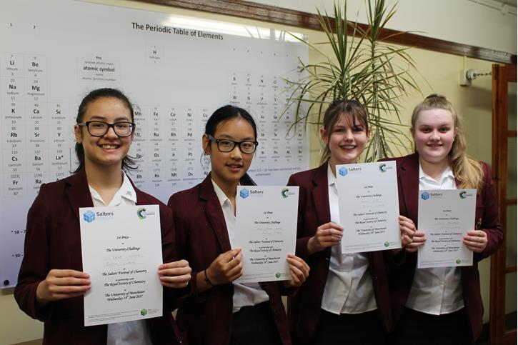 Salters Chemistry Festival certificates