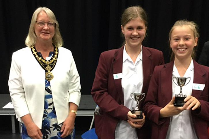 Bolton Uni STEM Challenge - girls with awards