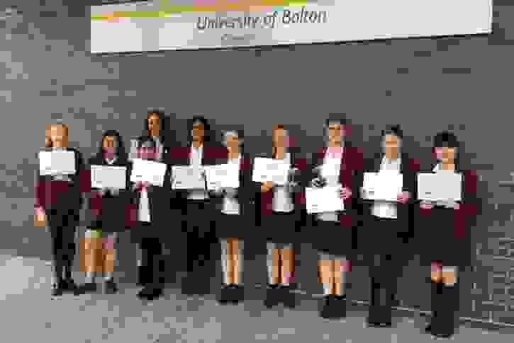 Bolton Uni STEM Challenge - participating girls