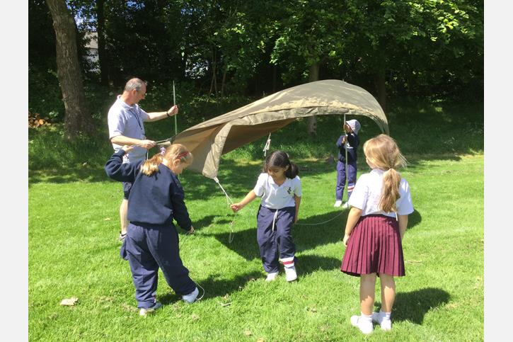 Y3 Outdoor Learning - shelter building