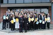 Volunteering Awards - recipients with High Sheriff of Greater Manchester
