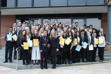 At the Community Action Celebration Evening, Sixth Form students received awards for their voluntary service from the High Sheriff of Greater Manchester