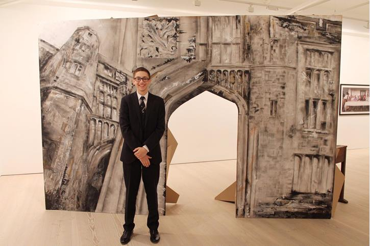 Saatchi Art Prize - Adam with artwork