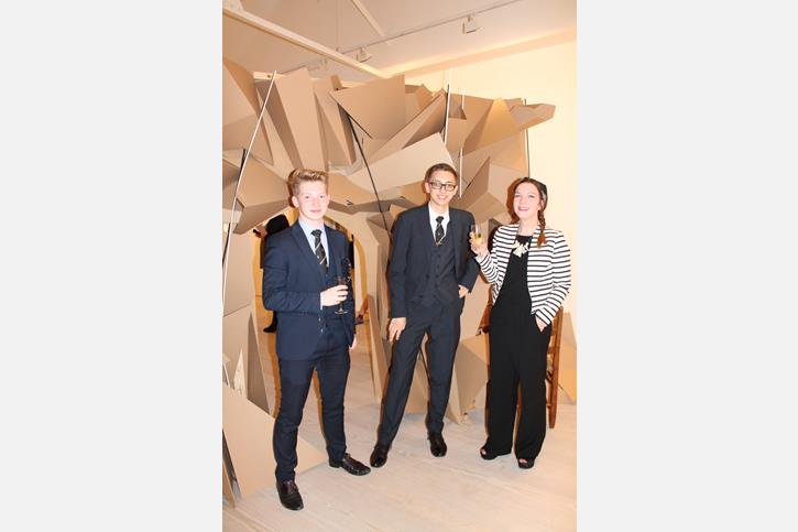 Saatchi Art Prize - Adam with friend and teacher