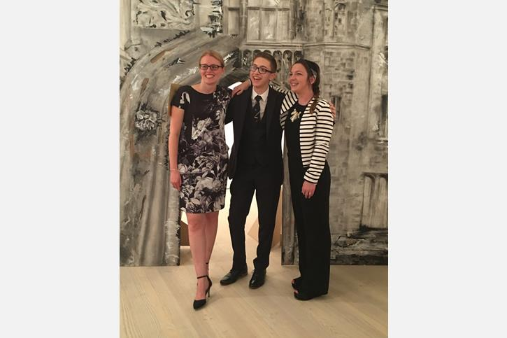 Saatchi Art Prize - Adam with Art staff