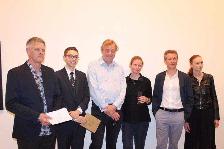 Saatchi Art Prize - Adam with the judges