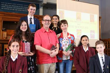 BCFA2017 - authors with Bolton School pupils