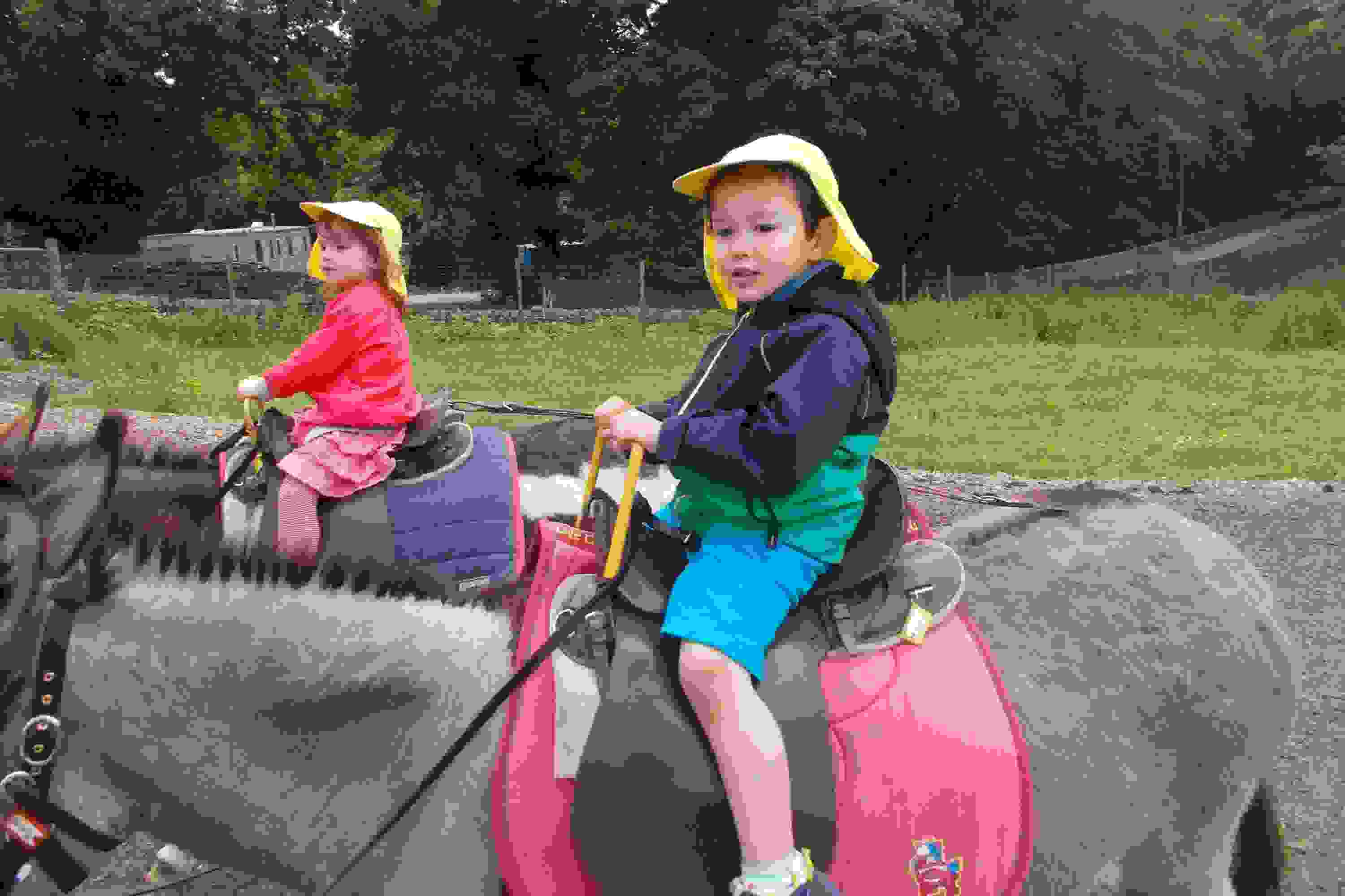 Caterpillars Smithills Farm - riding donkeys