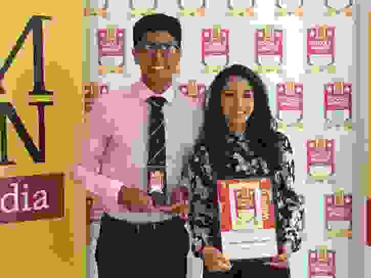 MEN Schools Awards Win - students with award