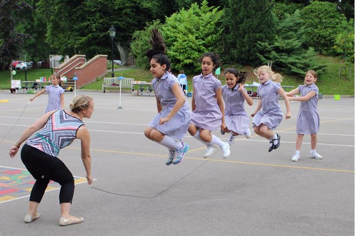 Charity Afternoon - girls skipping