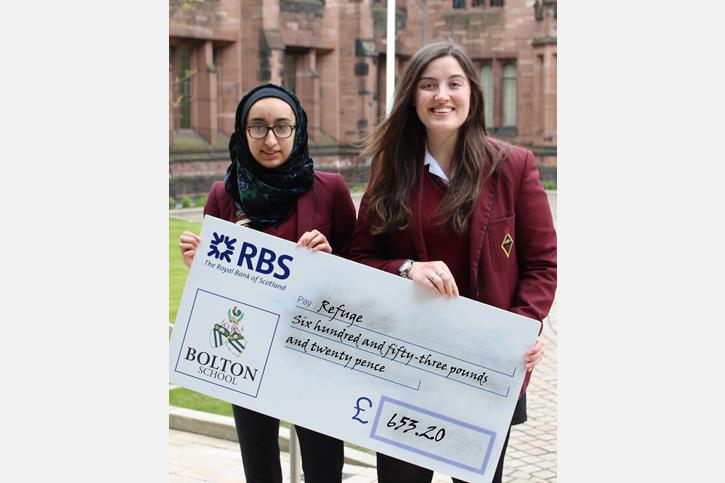 Summer Fundraising - Refuge non-uniform and old uniform day cheque