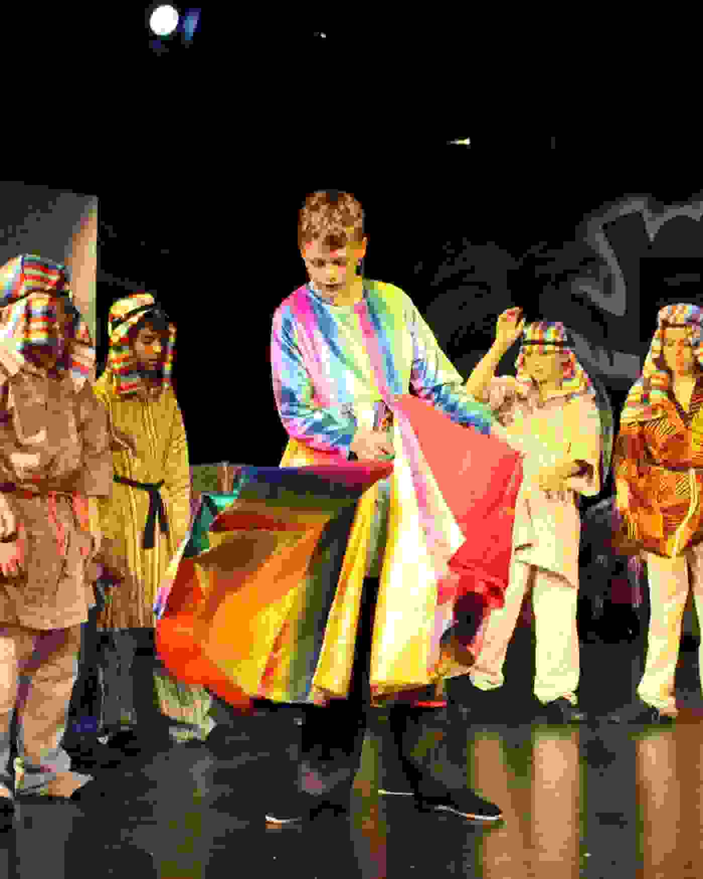 Y6 Play Joseph - Joseph wears the coat