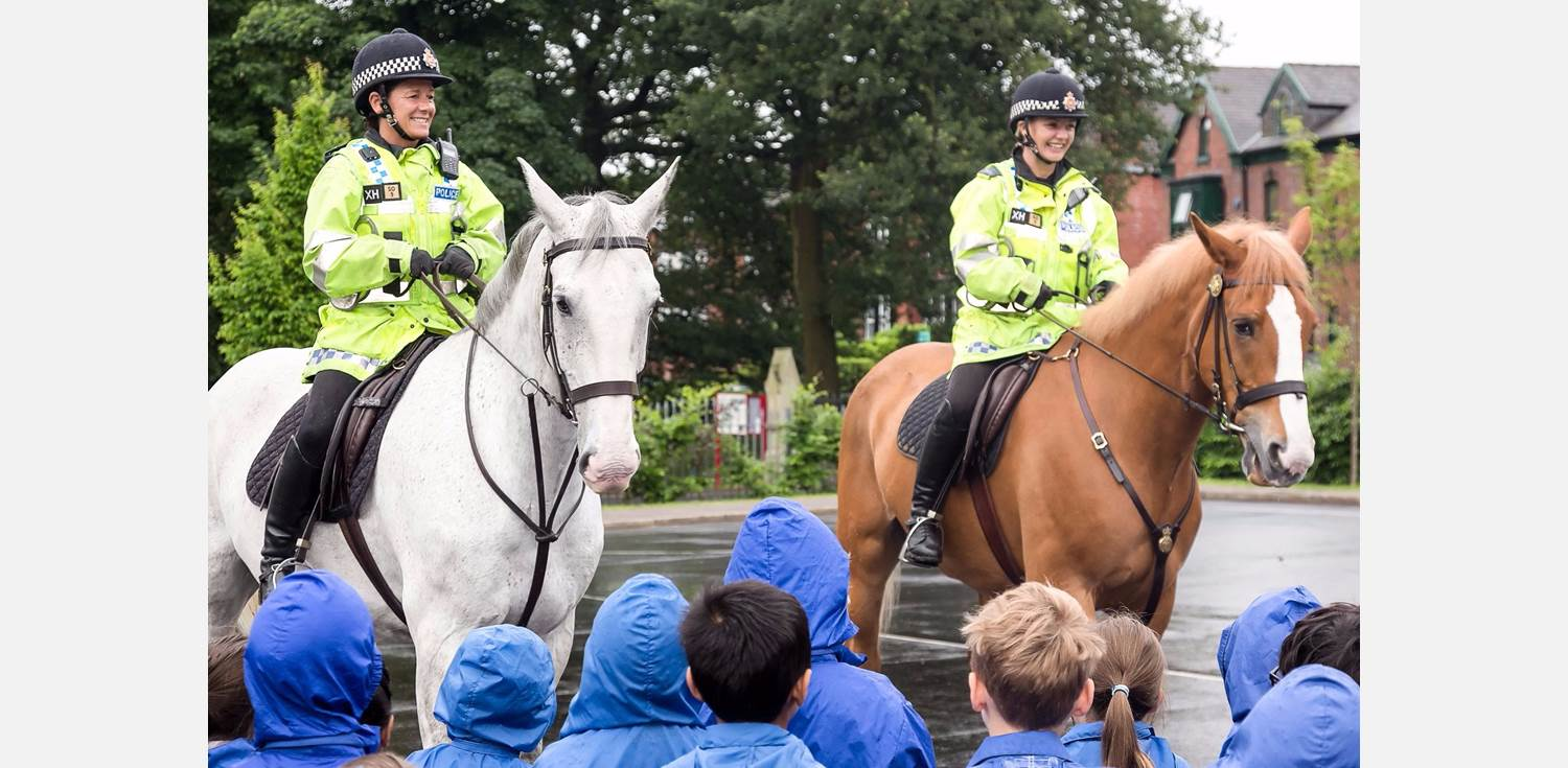 Police Horses visit